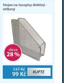 Stojánek na katalogy drátěný - stříbrný