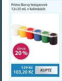 Primo Barvy temperové 12×25 ml, v kelímkách