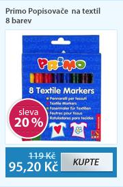 Primo Popisovače na textil - 8 barev