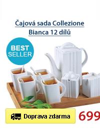 Čajová sada Collezione Bianca 12 dílů
