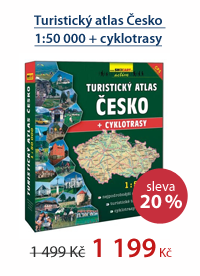 Turistický atlas Česko - 1:50 000 + cyklotrasy