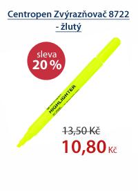 Centropen Zvýrazňovač 8722 - žlutý