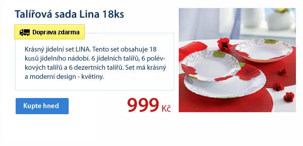 Talířová sada Lina 18ks