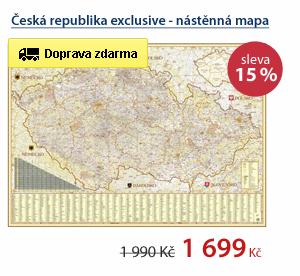 Česká republika exclusive - nástěnná mapa