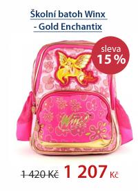 Školní batoh Winx - Gold Enchantix