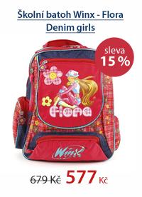 Školní batoh Winx - Flora Denim girls