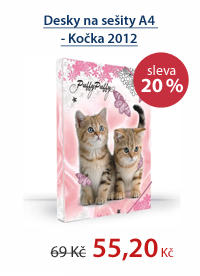 PP Desky na sešity A4 - Kočka vzor 2012