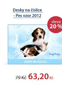 PP Desky na číslice - Pes vzor 2012