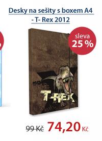 PP Desky na sešity s boxem A4 - T- Rex vzor 2012
