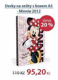 PP Desky na sešity s boxem A5 - Minnie vzor 2012