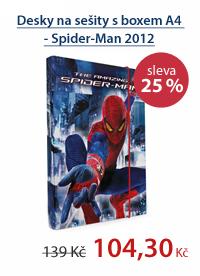PP Desky na sešity s boxem A4 - Spider-Man vzor 2012