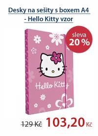 PP Desky na sešity s boxem A4 - Hello Kitty vzor 2012