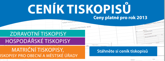 Ceník tiskopisů