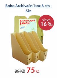 Bobo Archivační box 8 cm - 5ks
