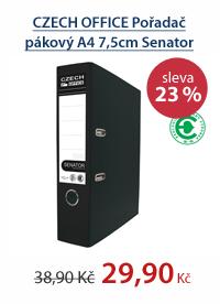 CZECH OFFICE Pořadač pákový A4 7,5cm Senator Rado - černý