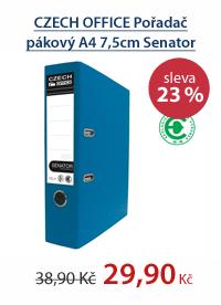 CZECH OFFICE Pořadač pákový A4 7,5cm Senator Rado - modrý