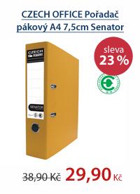 CZECH OFFICE Pořadač pákový A4 7,5cm Senator Rado - žlutý