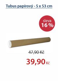 Tubus papírový - 5 x 53 cm