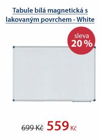 Tabule bílá magnetická s lakovaným povrchem - White Board 60×90 cm