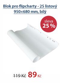Blok pro flipcharty - 25 listový 950×680 mm, bílý