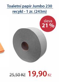 Toaletní papír Jumbo 230 recykl - 1 zr. (243m)