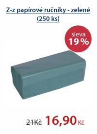Z-z papírové ručníky - zelené (250 ks)