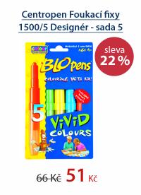 Centropen Foukací fixy 1500/5 Designér - sada 5 barev
