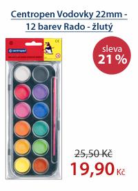 Centropen Vodové barvy 22mm - 12 barev