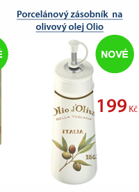Porcelánový zásobník na olivový olej Olio D´oliva