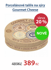 Porcelánové talíře na sýry Gourmet Cheese