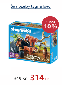 Šavlozubý tygr a lovci - Playmobil