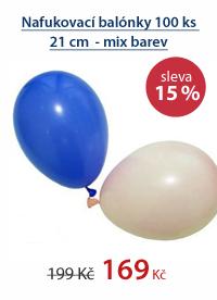 Nafukovací balónky 100 ks 21 cm - mix barev