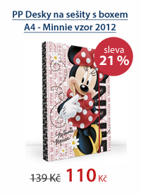 PP Desky na sešity s boxem A4 - Minnie vzor 2012