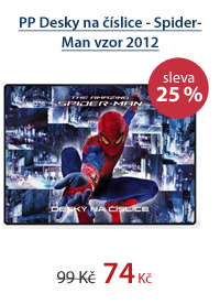 PP Desky na číslice - Spider-Man vzor 2012