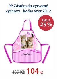 PP Zástěra do výtvarné výchovy - Kočka vzor 2012