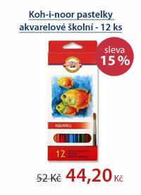 Koh-i-noor pastelky akvarelové školní - 12 ks