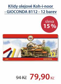 Křídy olejové Koh-i-noor - GIOCONDA 8112 - 12 barev