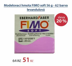 Modelovací hmota FIMO soft 56 g - 62 barva levandulová