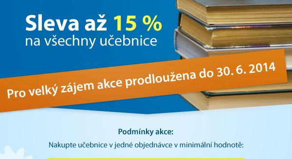 Nakupte učebnice výhodně se slevou až 15 %