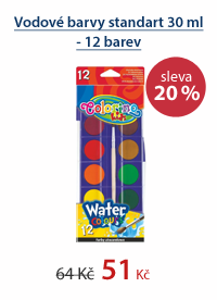 Vodové barvy standart 30 ml - 12 barev