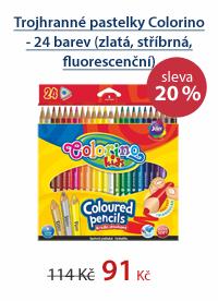 Trojhranné pastelky Colorino - 24 barev (zlatá, stříbrná, fluorescenční)