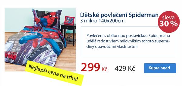Dětské povlečení Spiderman 3 mikro 140x200cm