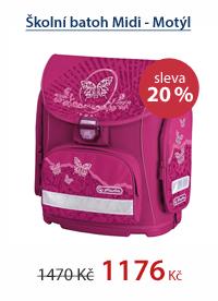Školní batoh Midi - Motýl