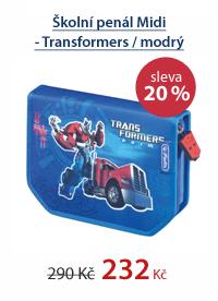 Školní penál Midi - Transformers / modrý