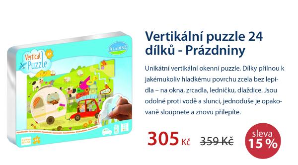 Vertikální puzzle 24 dílků - Prázdniny