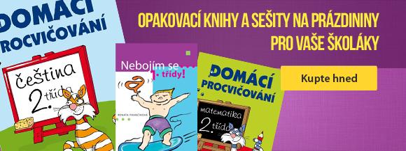 Opakovací knihy a sešity na prázdininy pro Vaše školáky