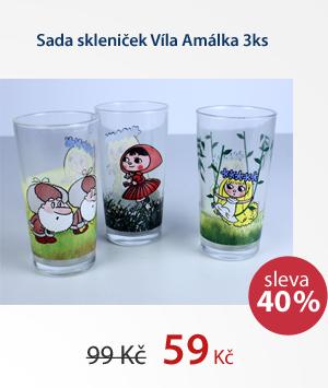 Sada skleniček Víla Amálka 3ks