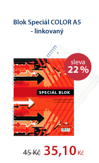 Speciál blok COLOR A5 - linkovaný