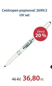 Centropen Popisovač 2699 Security UV Pen - set popisovač + UV lampa