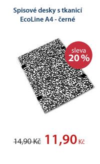 CZECH OFFICE Spisové desky s tkanicí EcoLine A4 - černé